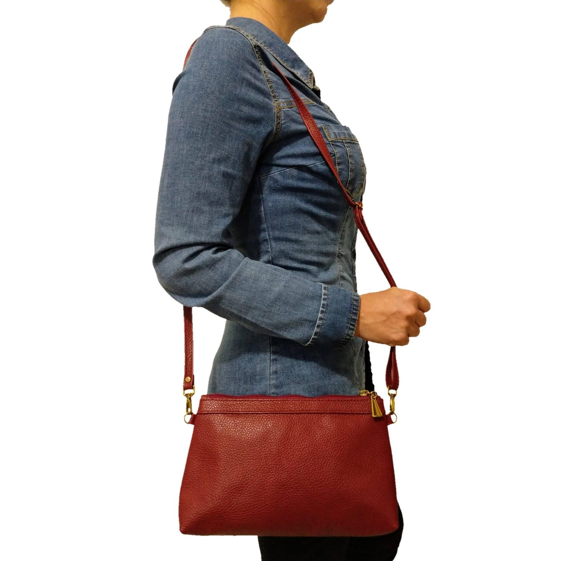 Bolsa Carteira Clutch TopGrife Transversal Couro - Promoção  - SAPATOWEB.COM