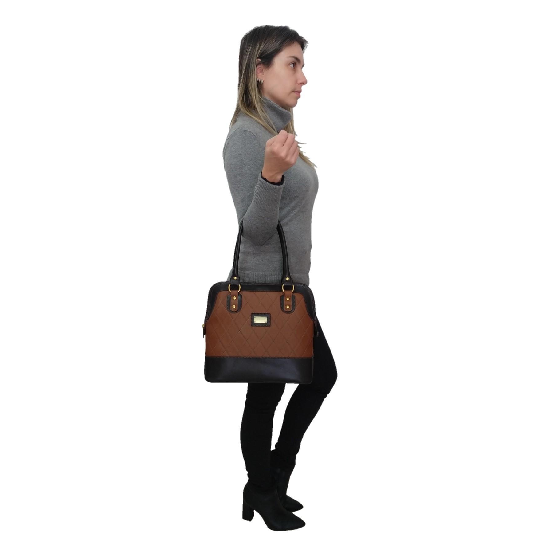 Bolsa Sacola TopGrife Shopper Couro Marrom  - SAPATOWEB.COM