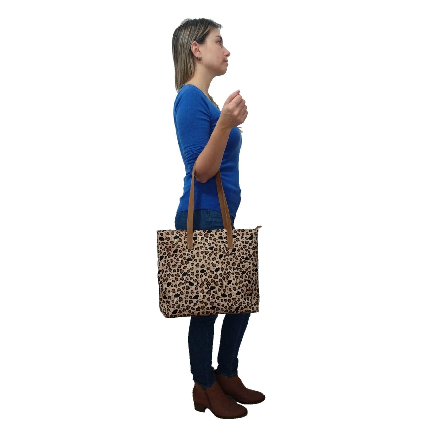 Bolsa Sacola TopGrife Shopper Couro Pelo Onça  - SAPATOWEB.COM