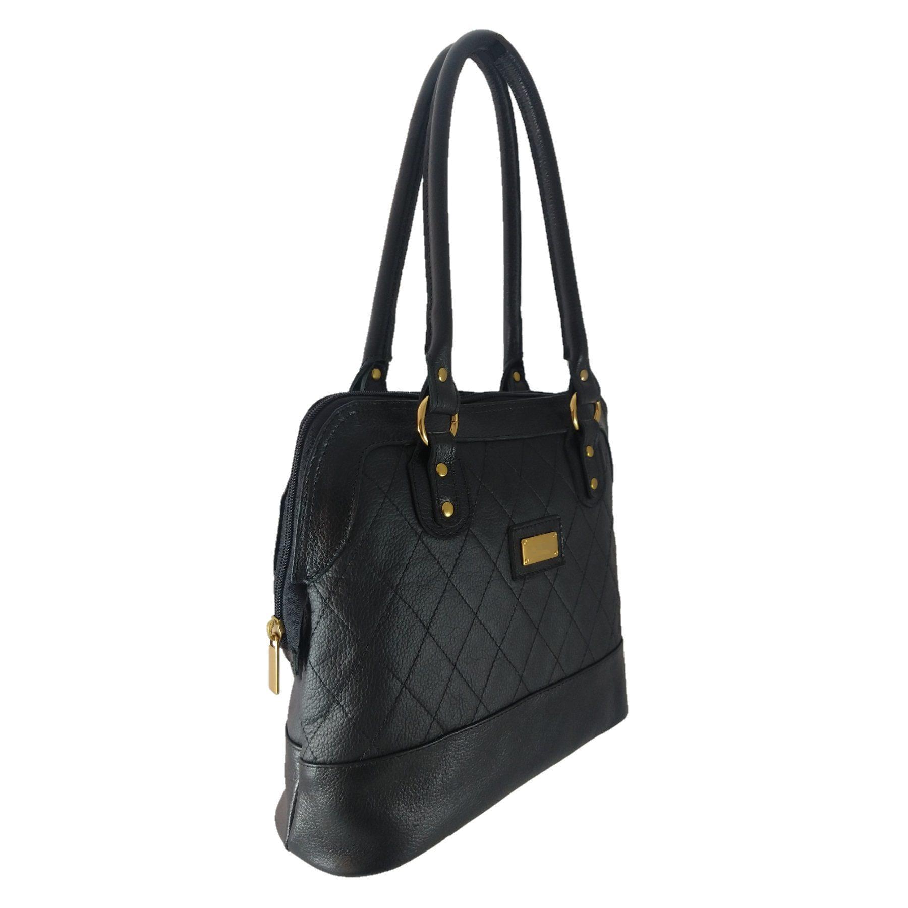 Bolsa Sacola TopGrife Shopper Couro Preto  - SAPATOWEB.COM