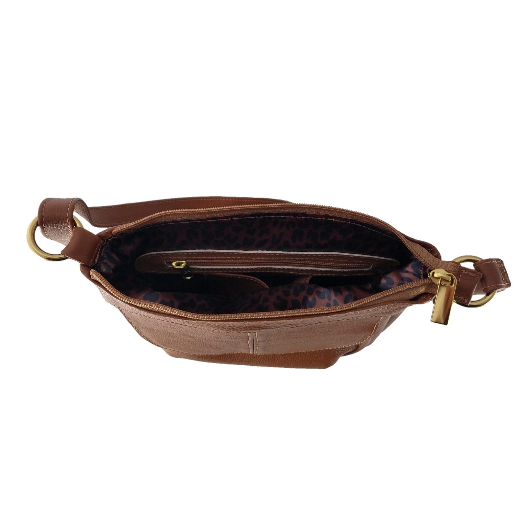 Bolsa Transversal TopGrife Couro Caramelo  - SAPATOWEB.COM