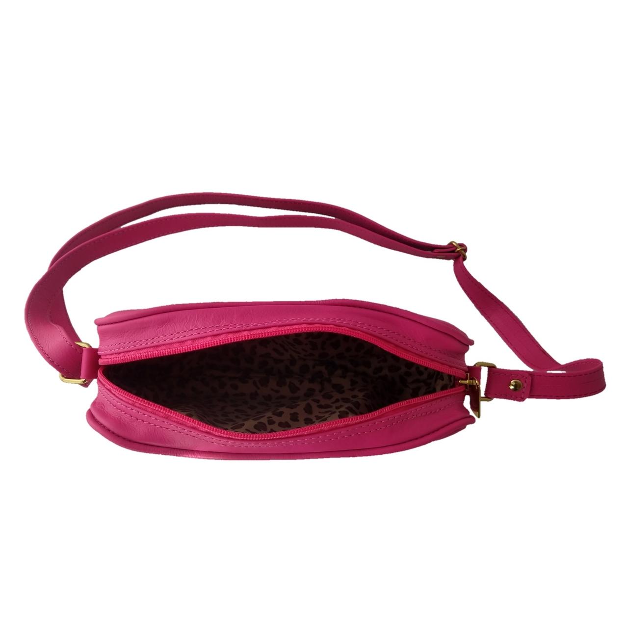 Bolsa Transversal TopGrife Matelassê Couro Pink  - SAPATOWEB.COM