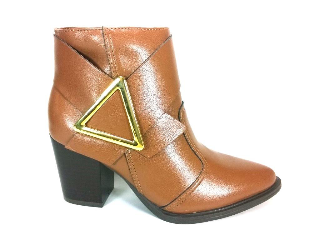 Bota Cano Curto RR Shoes Triangulo Caramelo  - SAPATOWEB.COM
