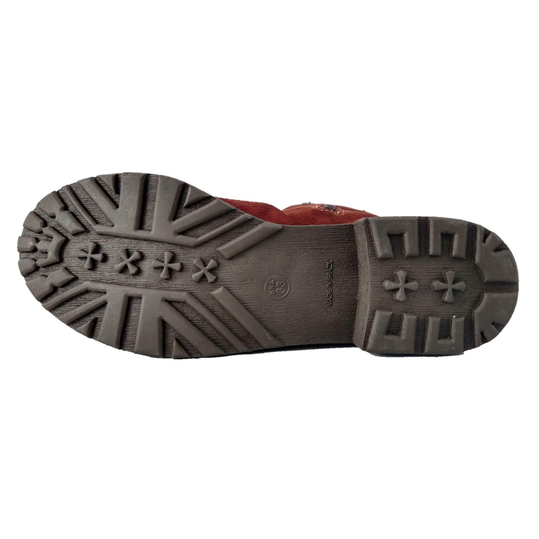 Bota de Pelo SapatoWeb Dobrável Camurça  - SAPATOWEB.COM