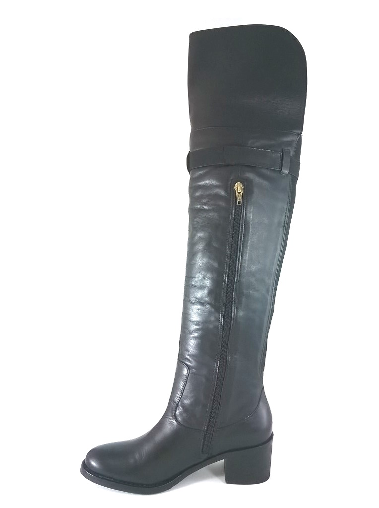 Bota Montaria TopGrife Couro Over The Knee Matisse Preto - SAPATOWEB.COM
