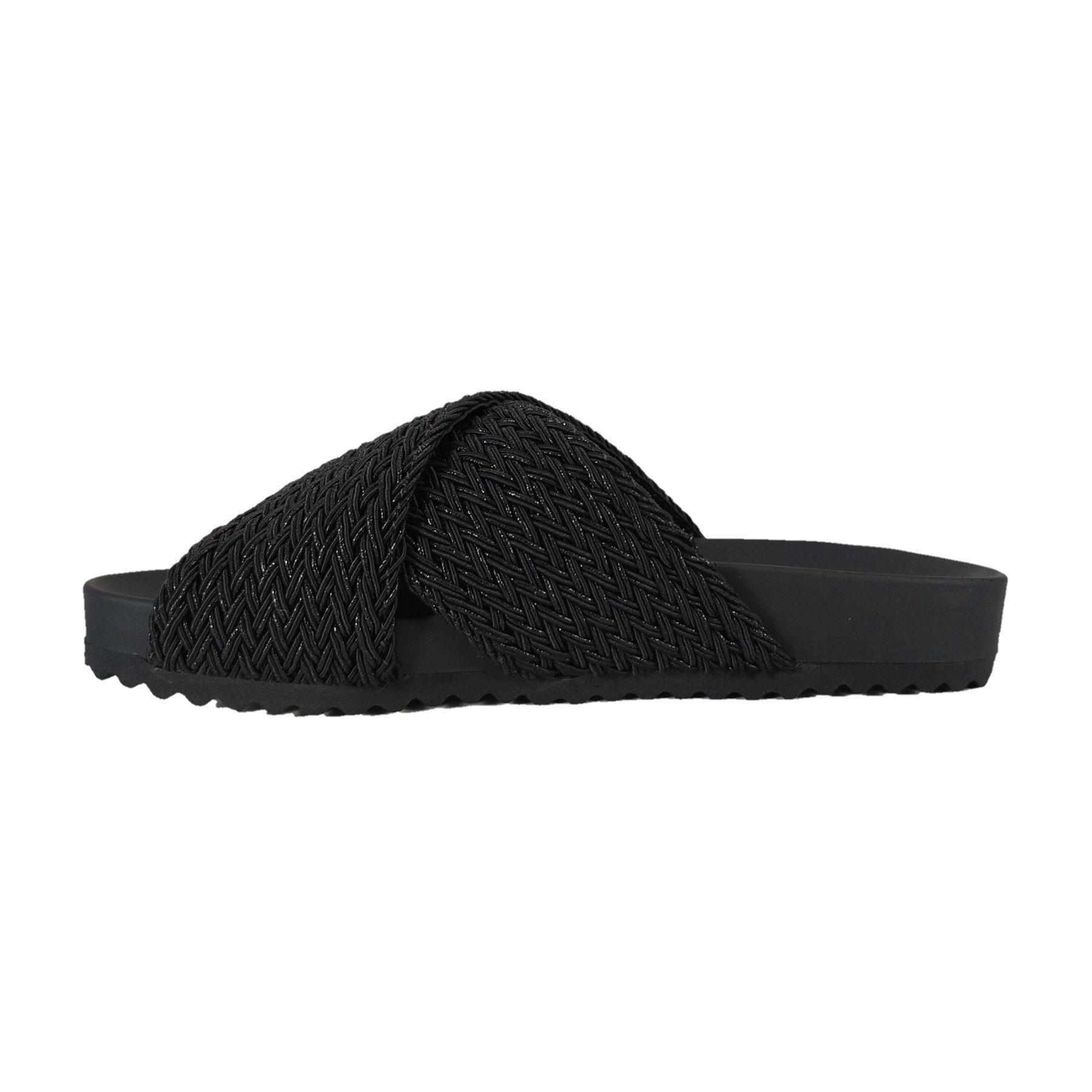 Chinelo Tiras SapatoWeb Tranças Preto  - SAPATOWEB.COM