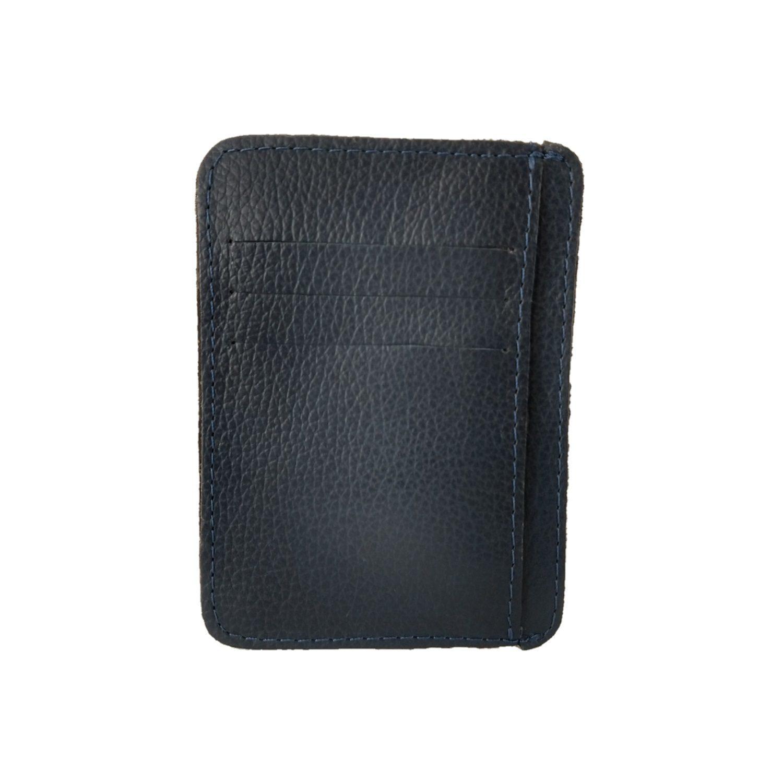 Kit Bolsa Transversal e Porta Cartões TopGrife Couro Azul Marinho  - SAPATOWEB.COM