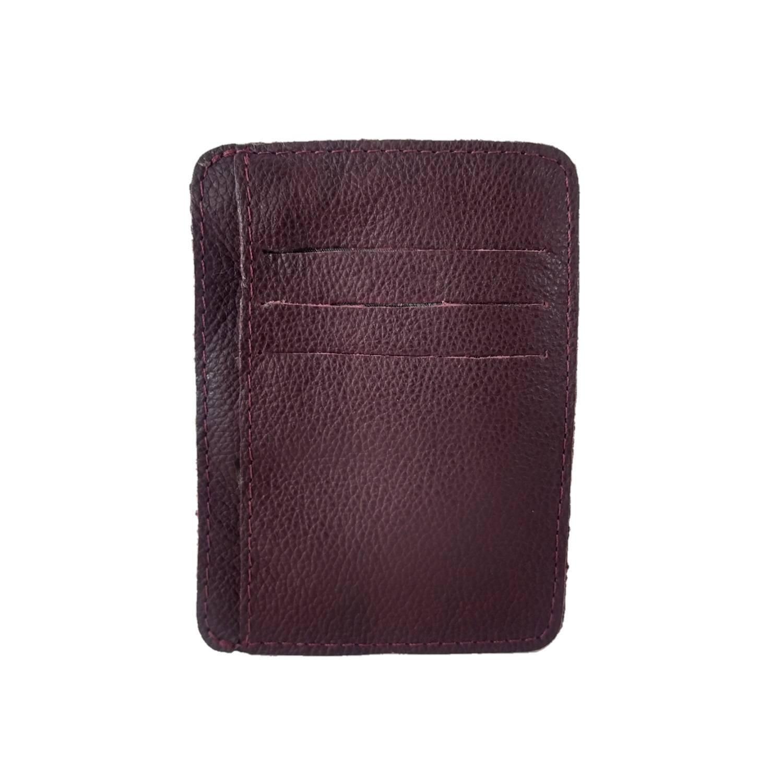 Kit Bolsa Transversal e Porta Cartões TopGrife Couro Bordô  - SAPATOWEB.COM