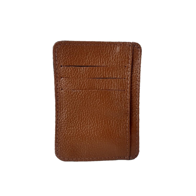 Kit Bolsa Transversal e Porta Cartões TopGrife Couro Caramelo  - SAPATOWEB.COM