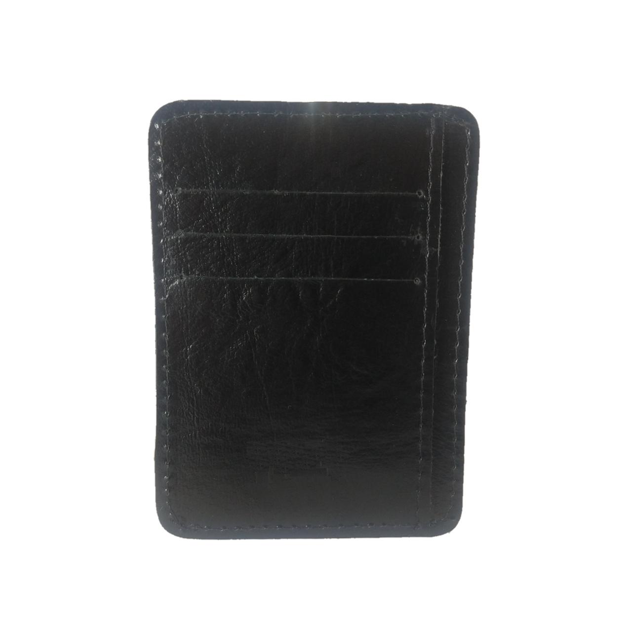 Kit Bolsa Transversal e Porta Cartões TopGrife Couro Preto  - SAPATOWEB.COM