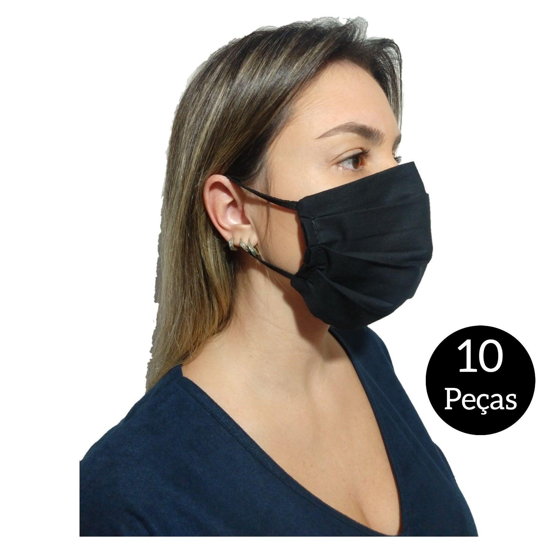 Kit com 10 Máscaras De Proteção Tecido Lavável  - SAPATOWEB.COM