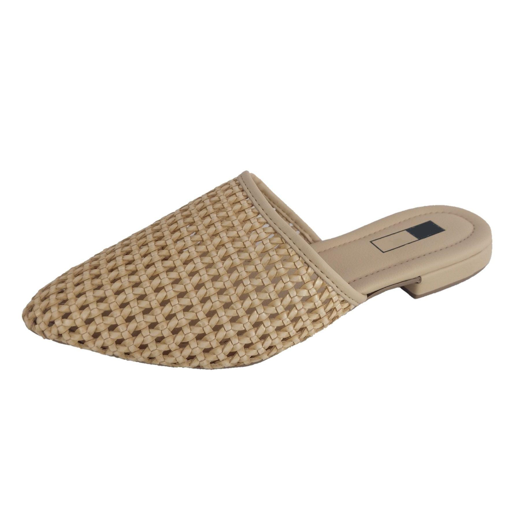 Mule Slipper SapatoWeb Tranças Bege  - SAPATOWEB.COM