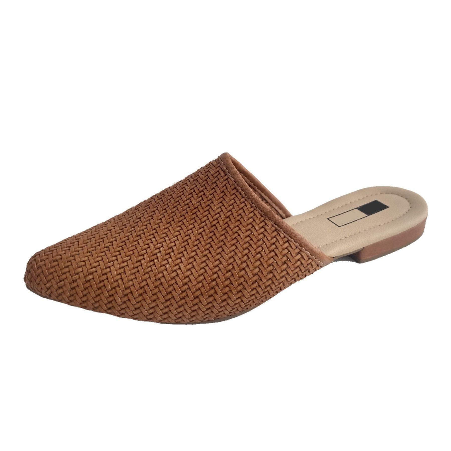 Mule Slipper SapatoWeb Tranças Caramelo  - SAPATOWEB.COM