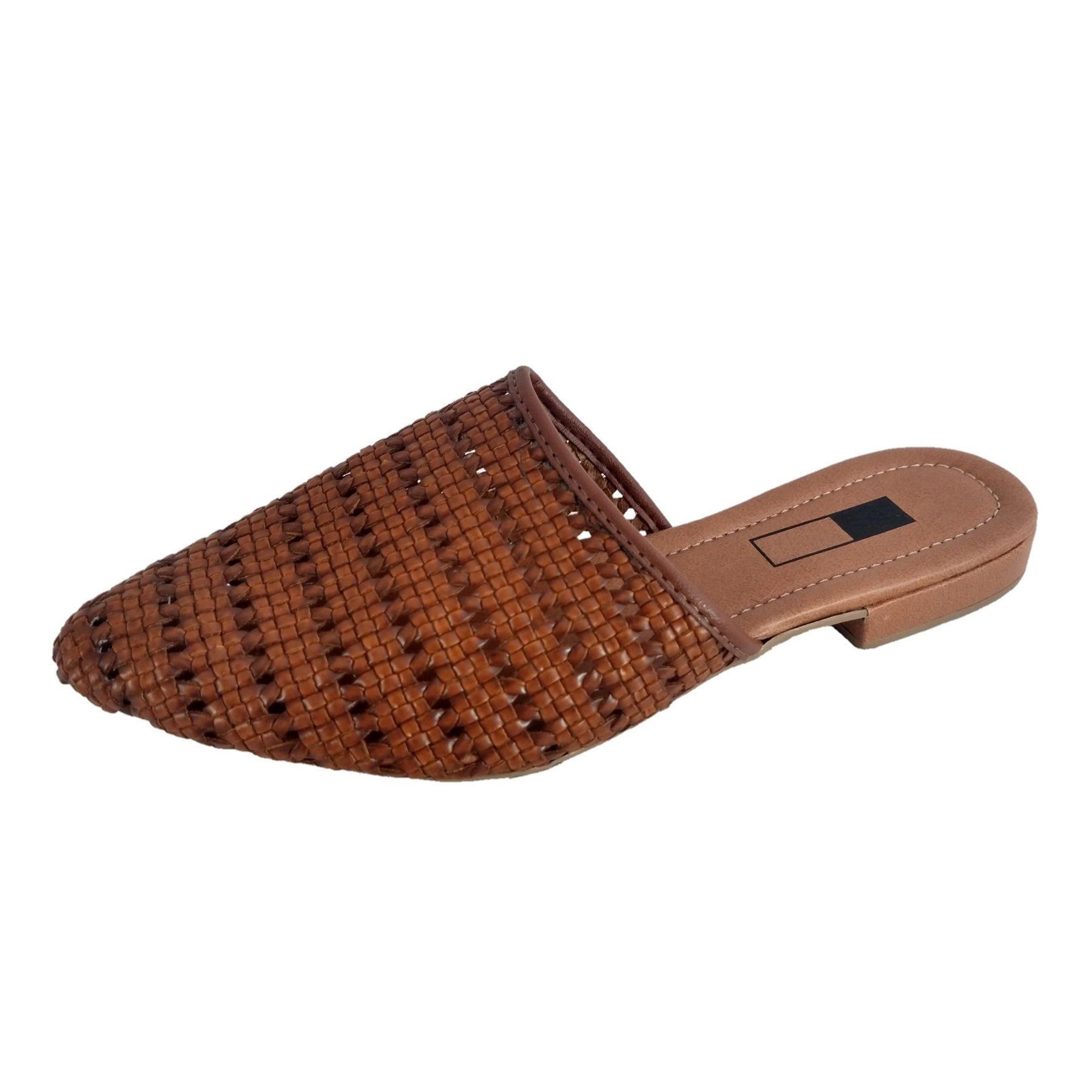 Mule Slipper SapatoWeb Tranças Marrom  - SAPATOWEB.COM