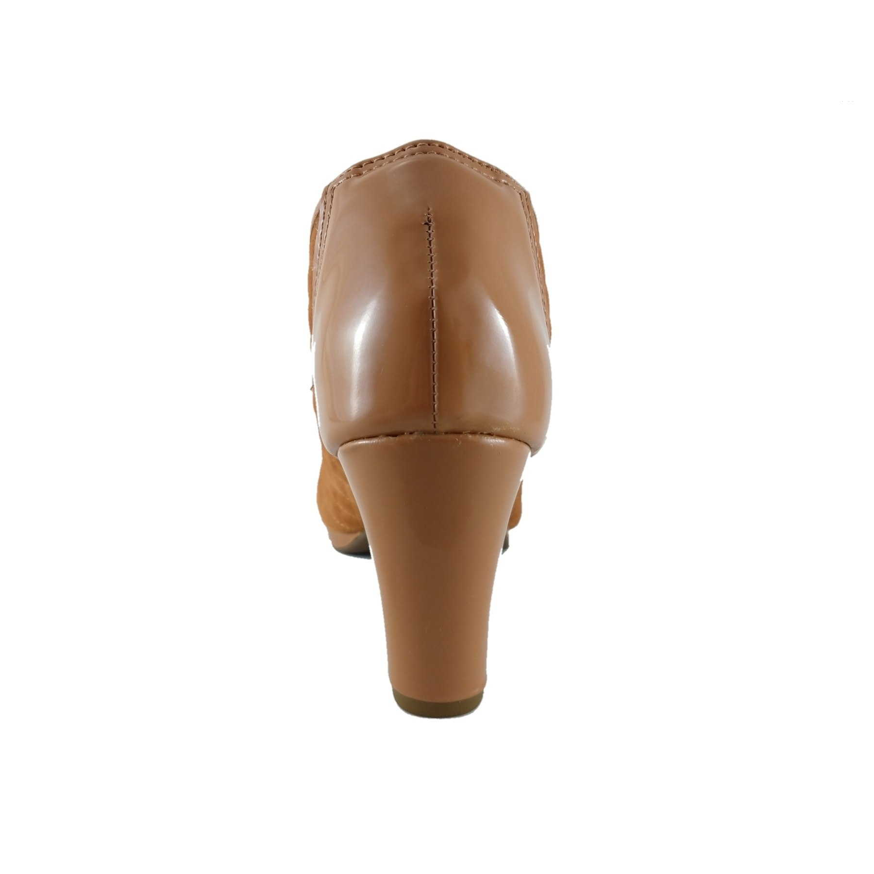 Peep Toe Confort SapatoWeb Matelassê Caramelo  - SAPATOWEB.COM
