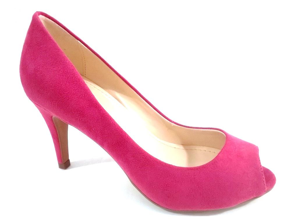 Peep Toe TopGrife Valentina Rosa  - SAPATOWEB.COM