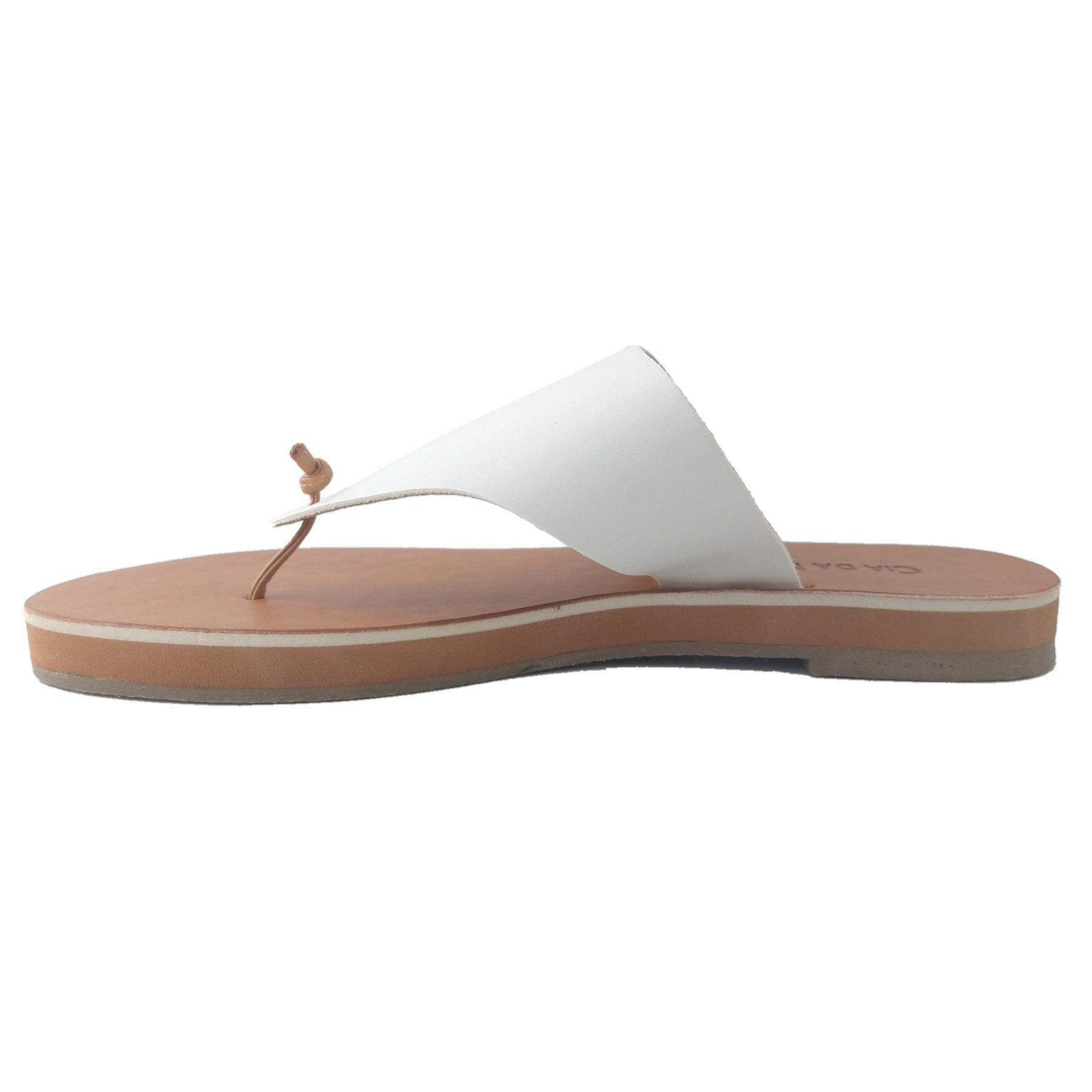 Rasteira SapatoWeb Couro Branco  - SAPATOWEB.COM