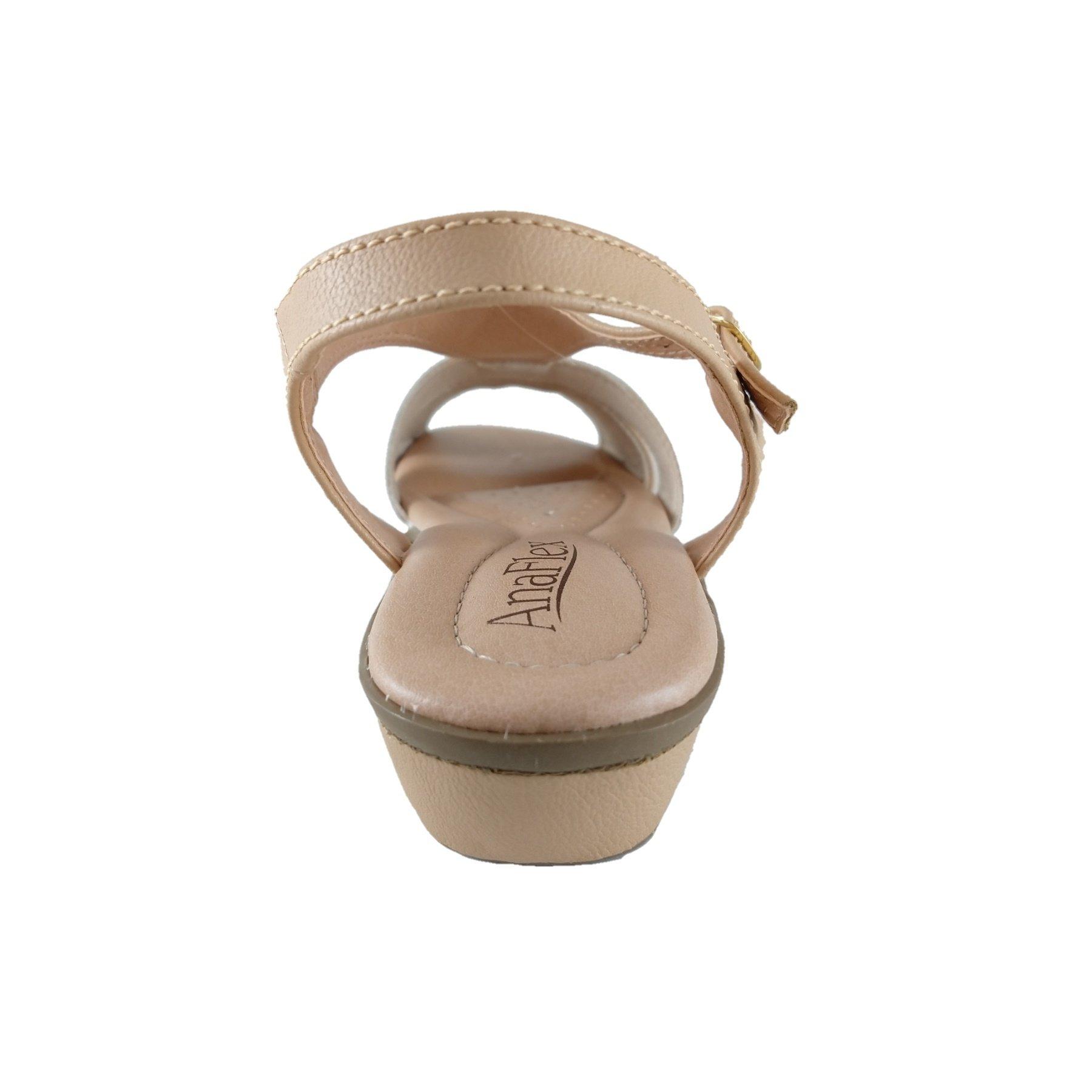 Sandália Confort SapatoWeb Flex Bege  - SAPATOWEB.COM