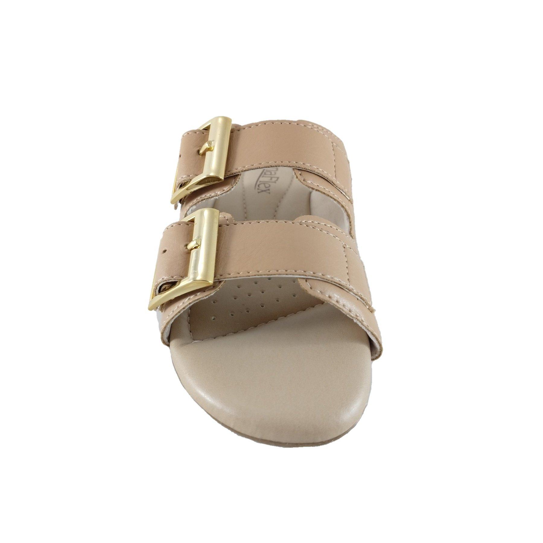 Sandália Confort SapatoWeb Flex Nude  - SAPATOWEB.COM