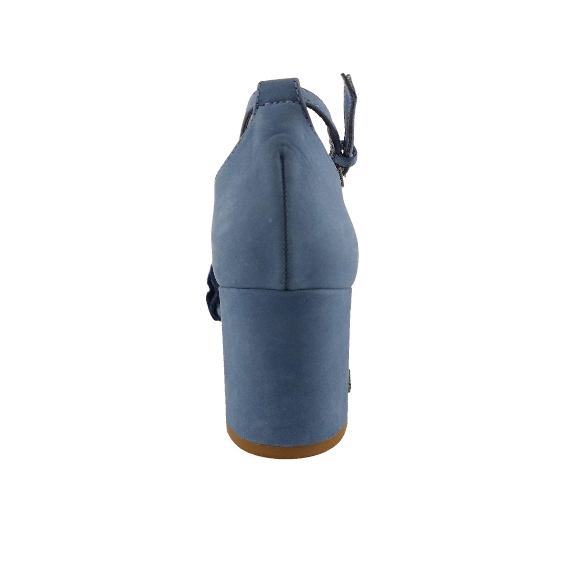 Sandália de Salto Capodarte Couro Azul  - SAPATOWEB.COM