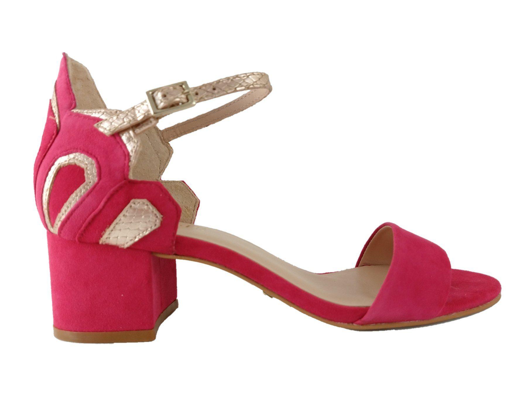 Sandália de Salto SapatoWeb by Minelli Couro Pink  - SAPATOWEB.COM