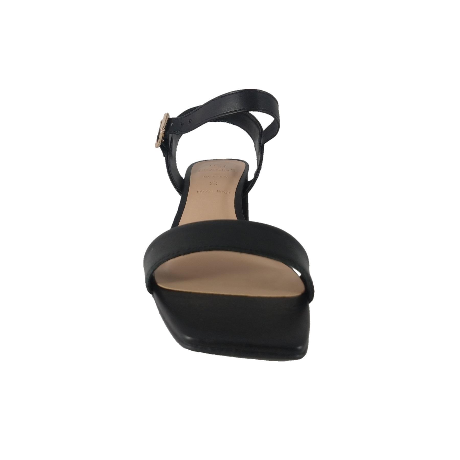 Sandálias Salto Bloco SapatoWeb Couro  - SAPATOWEB.COM