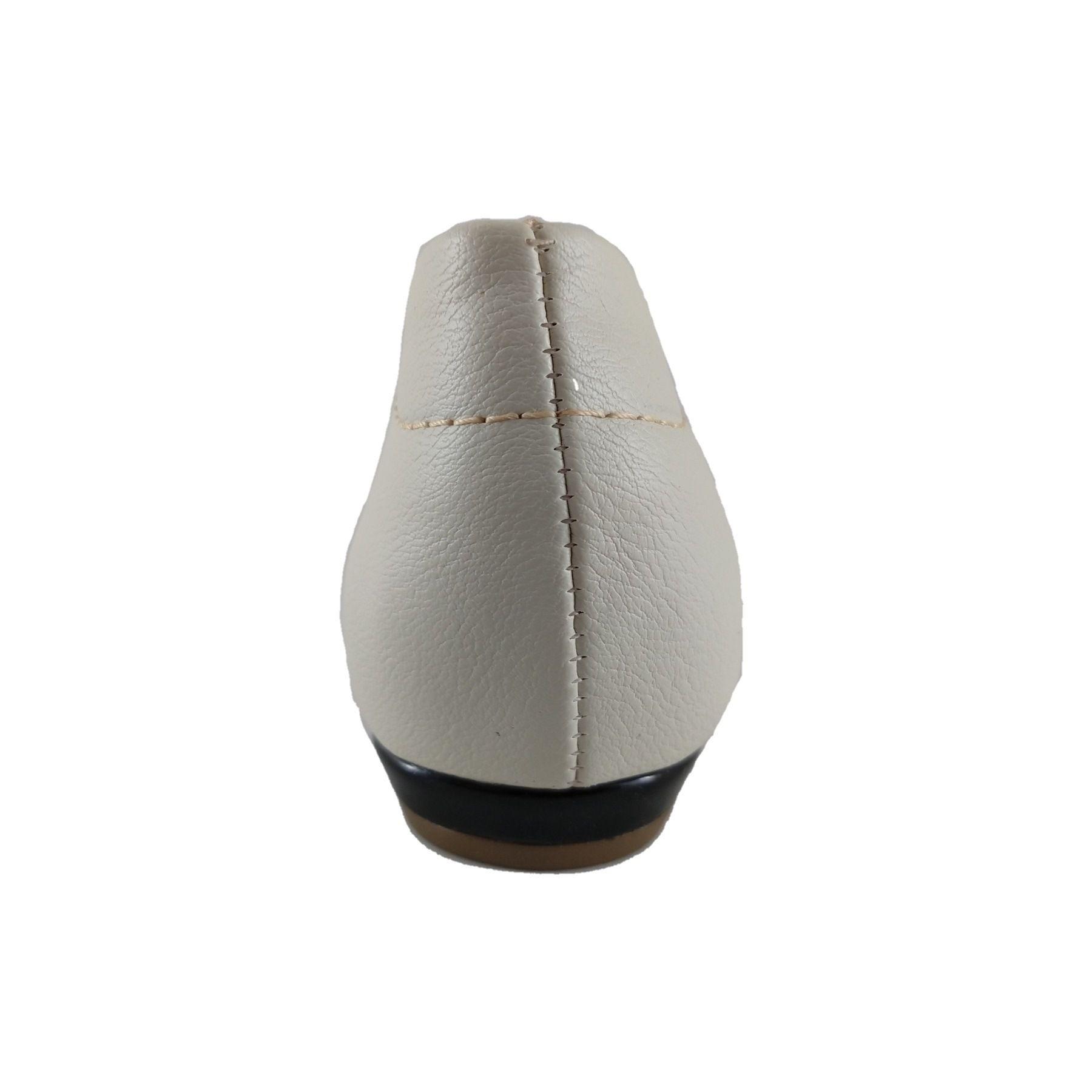 Sapatilha Bico Fino SapatoWeb Confort Branco  - SAPATOWEB.COM