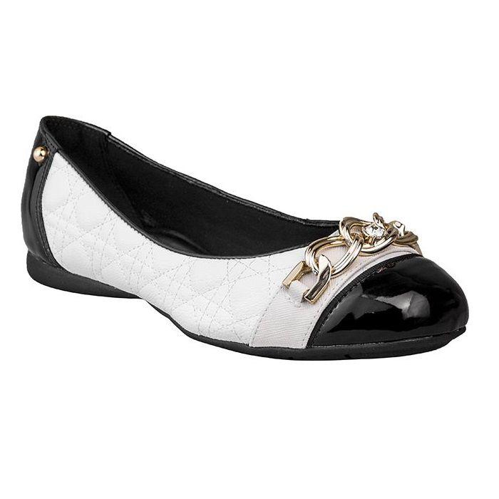 Sapatilha Bico Quadrado SapatoWeb Confort Branco  - SAPATOWEB.COM