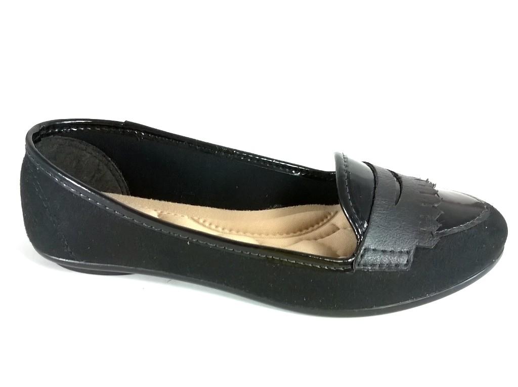 Mocassim Confort FEM by Color Shoes Preta   - SAPATOWEB.COM