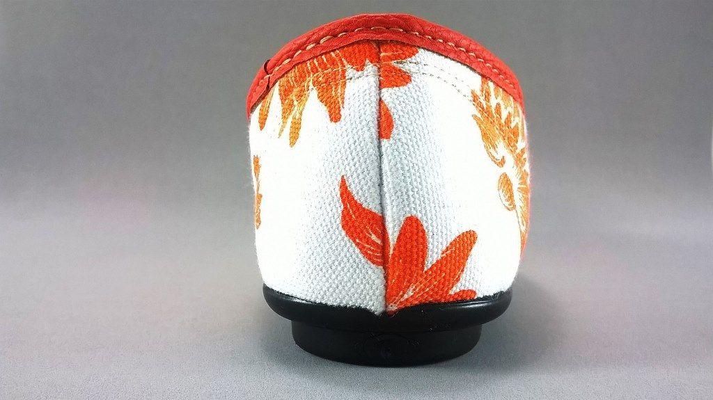 Sapatilha Confort FEM Floral Laranja  - SAPATOWEB.COM