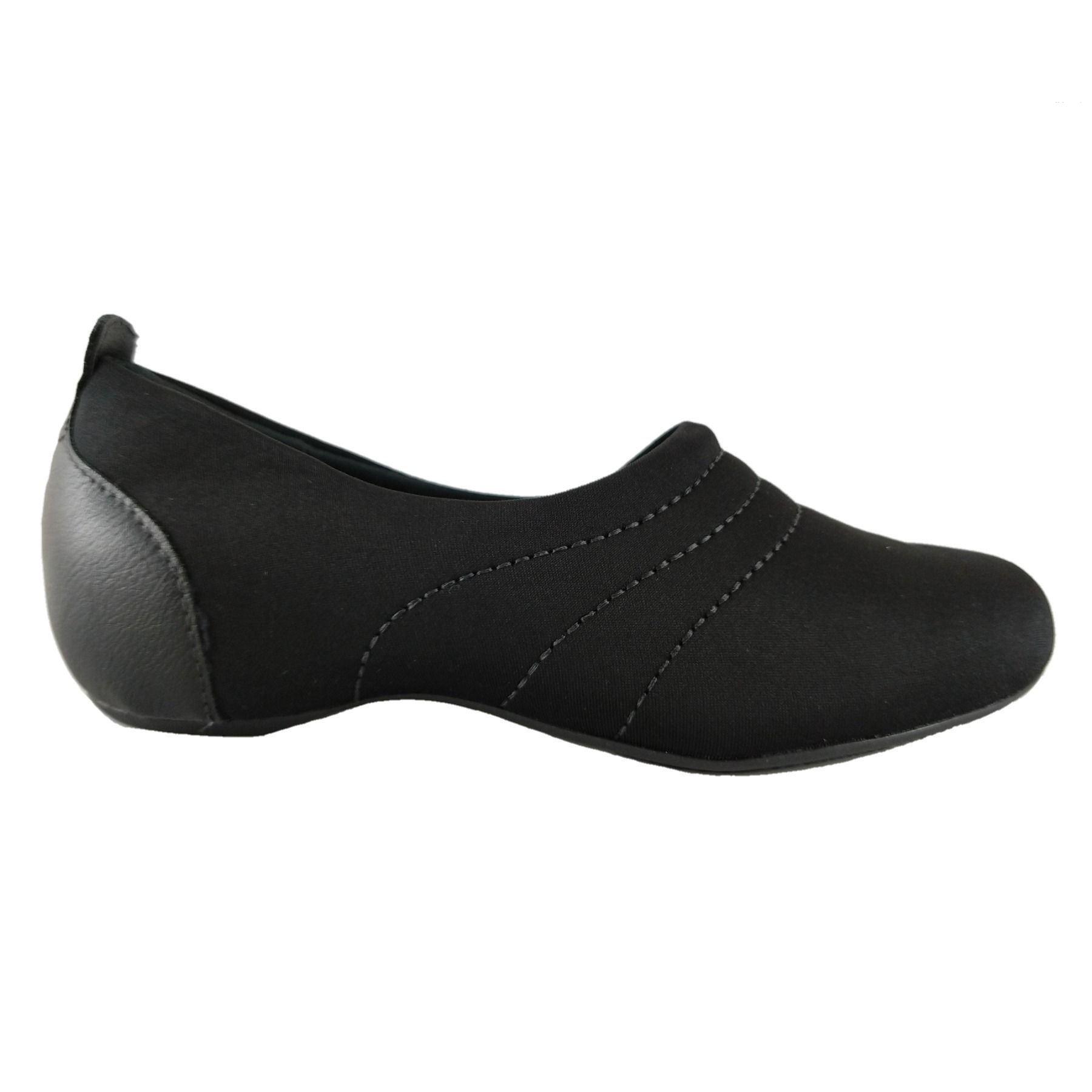 Sapatilha Confort SapatoWeb Flex Lycra Preto  - SAPATOWEB.COM