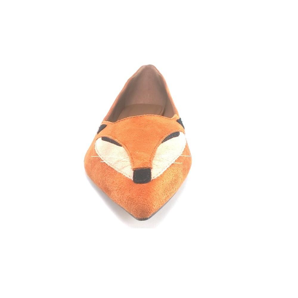 Sapatilha Raposa TopGrife KittyFox Couro Amarelo  - SAPATOWEB.COM