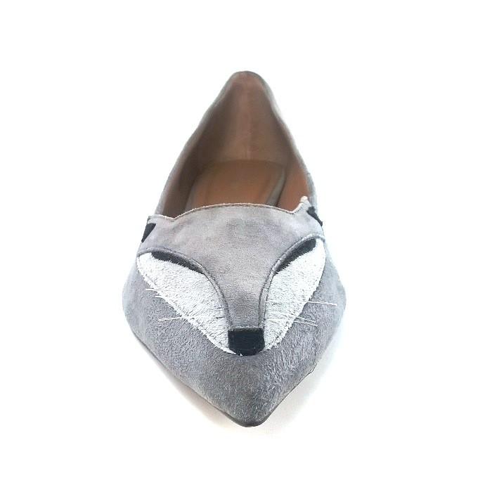 Sapatilha Raposa TopGrife KittyFox Couro Cinza  - SAPATOWEB.COM