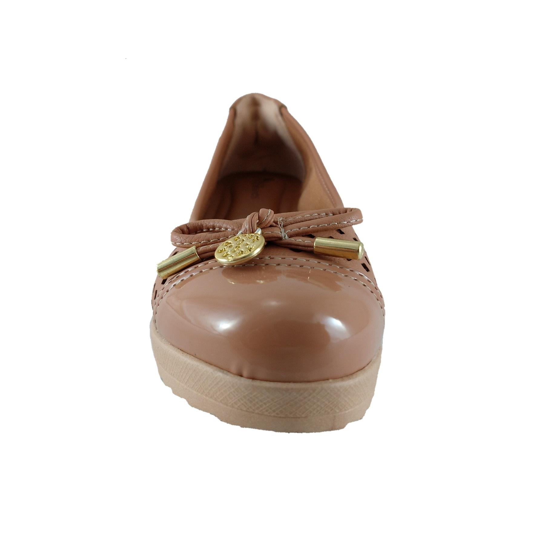 Sapato Anabela SapatoWeb Confort Marrom  - SAPATOWEB.COM