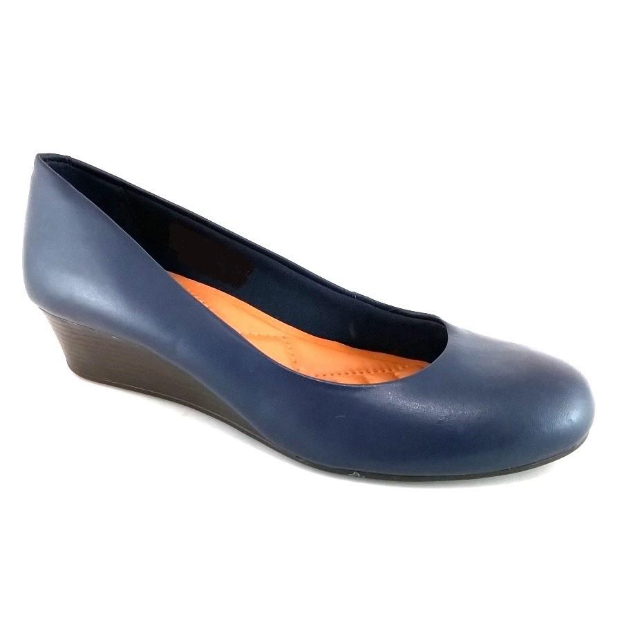 29a0229d5 Sapato Anabela Via Uno Confort Azul Marinho SapatoWeb.com | Ofertas ...
