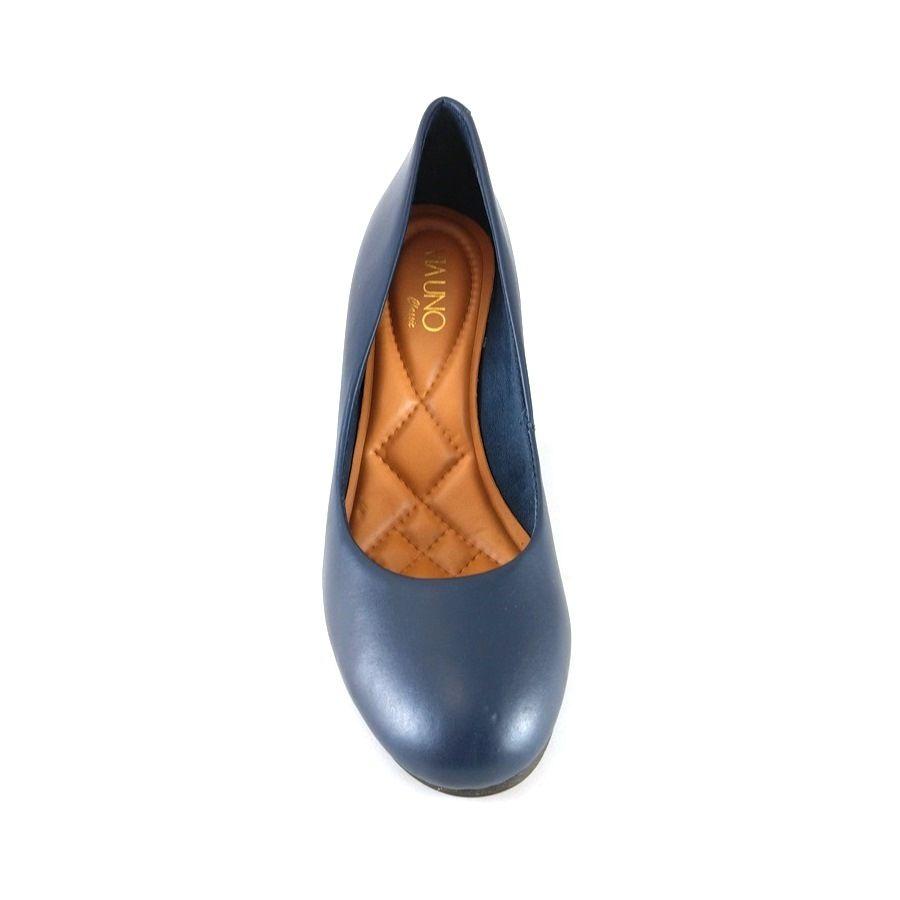 Sapato Anabela Via Uno Confort Marinho  - SAPATOWEB.COM