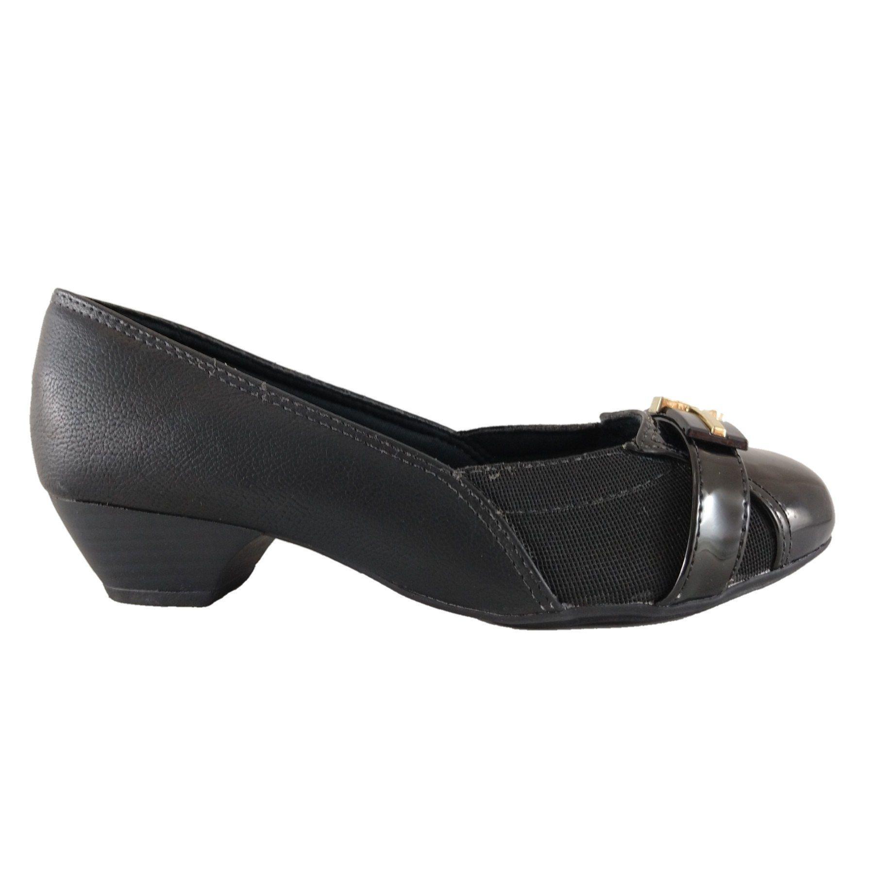 Sapato Scarpin SapatoWeb Confort Preto  - SAPATOWEB.COM