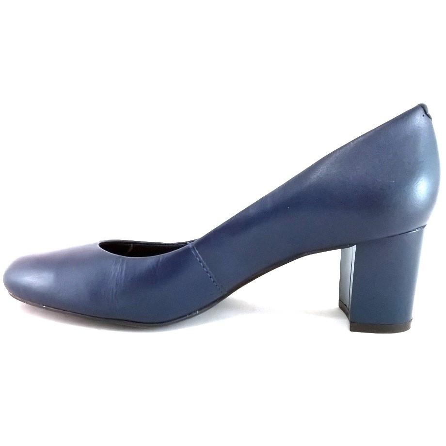 Scarpin Via Uno Confort Azul Marinho  - SAPATOWEB.COM