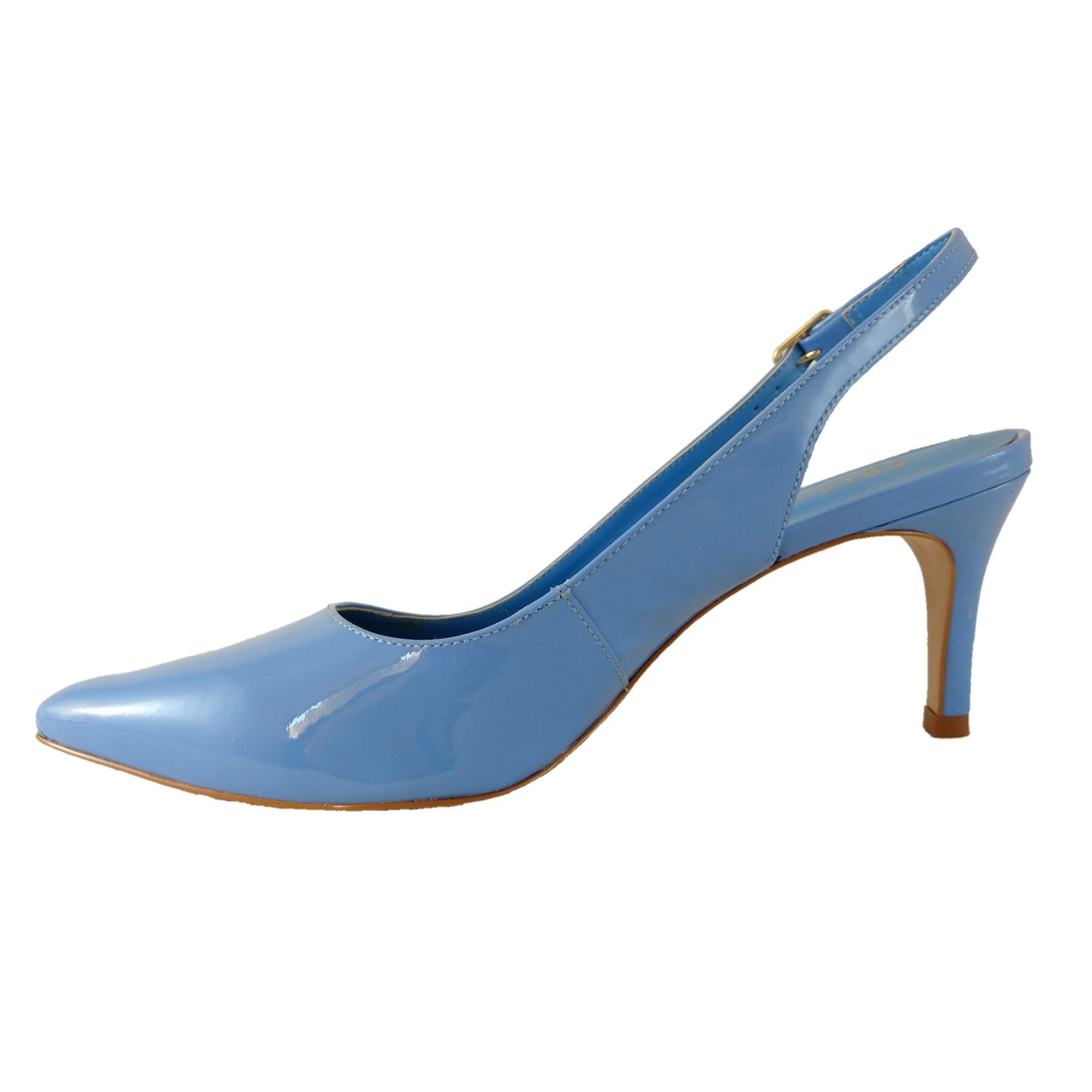 Scarpin Chanel SapatoWeb Verniz Azul  - SAPATOWEB.COM