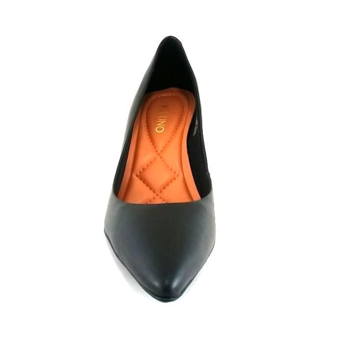 Scarpin Via Uno Confort Preto  - SAPATOWEB.COM
