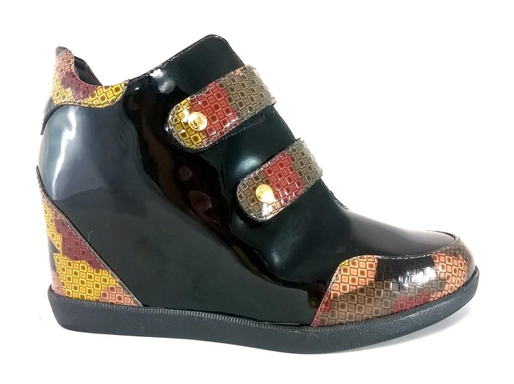 Sneaker Confort TopGrife Couro Multicolorido  - SAPATOWEB.COM