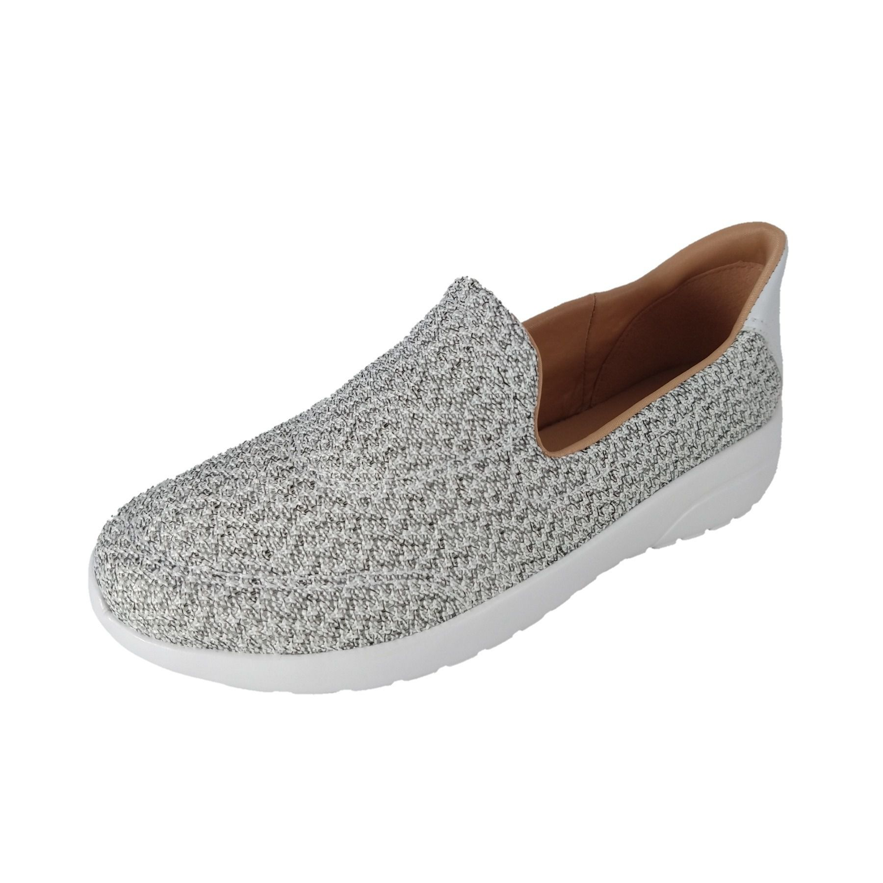 Tênis Confort Ramarim Sli On Knit Cinza  - SAPATOWEB.COM