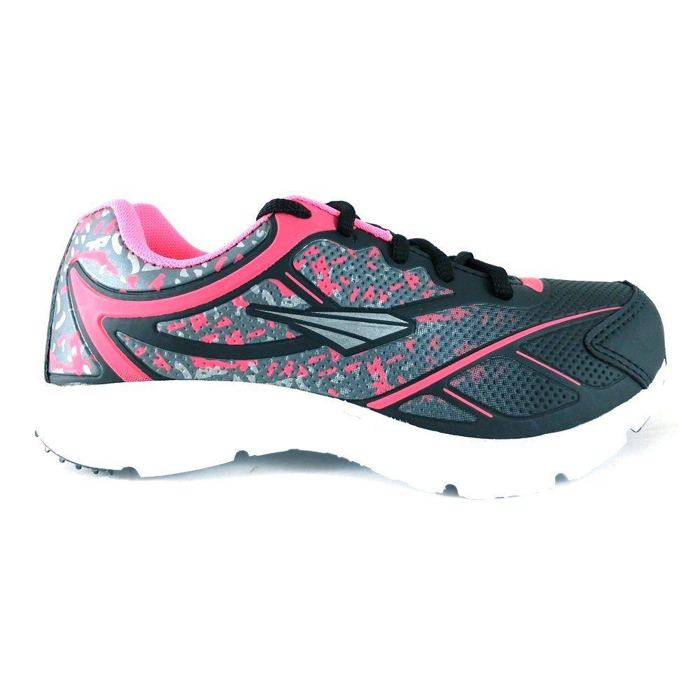 Tênis Feminino TopGrife Fill On Running Preto  - SAPATOWEB.COM