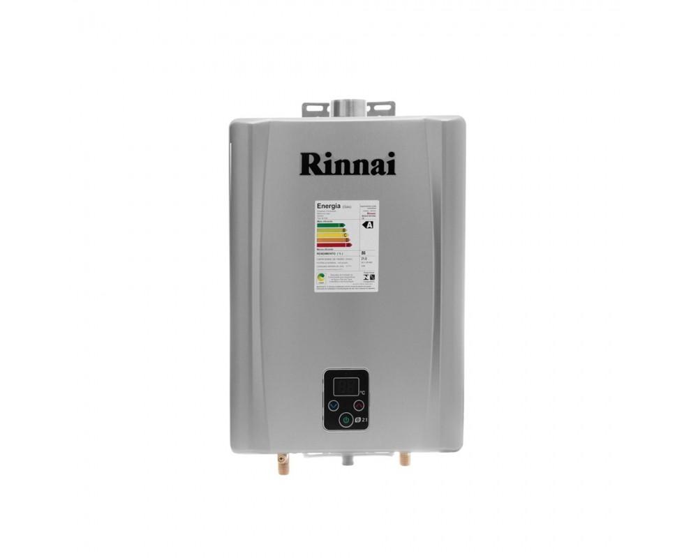 Aquecedor a Gás Digital Rinnai REU-E211 FEHG Cinza 21L GLP