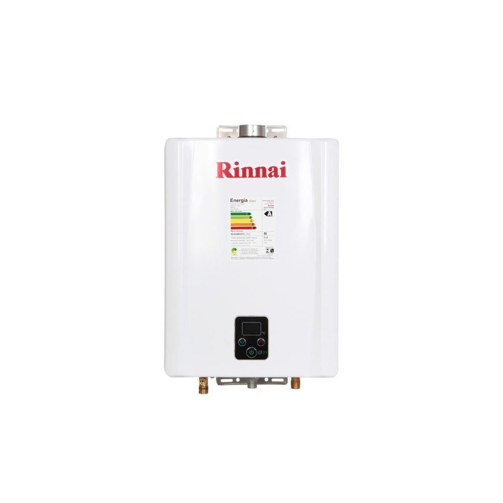 Aquecedor a Gás Digital Rinnai REU-E211 FEHB Branco 21L GLP
