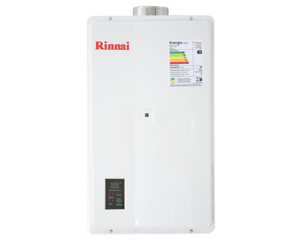 Aquecedor de água a gás GLP Rinnai 2402 FEH 32,5L
