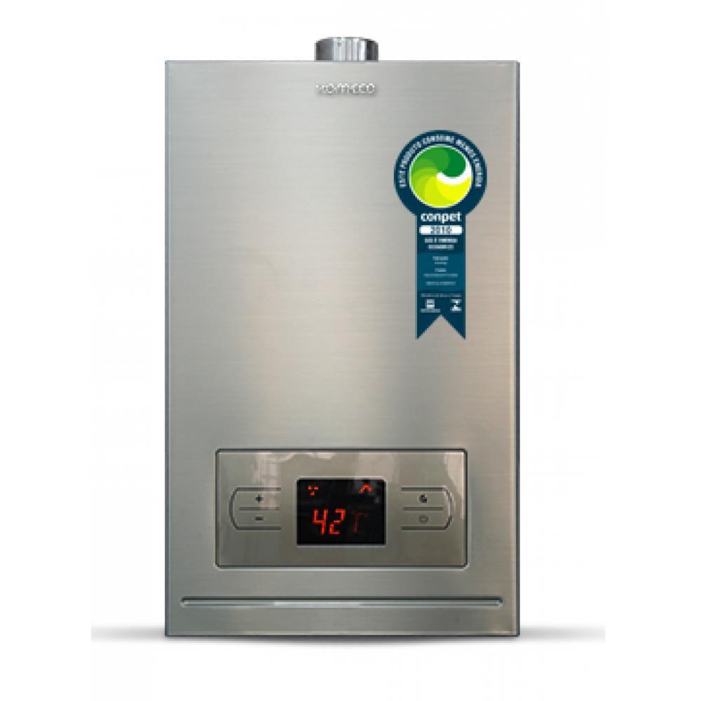 Aquecedor de água a gás Komeco Digital KO 15 DI Aço Inox GLP