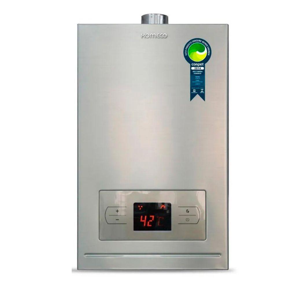 Aquecedor de água a gás Komeco Digital KO 20 DI Aço Inox GN