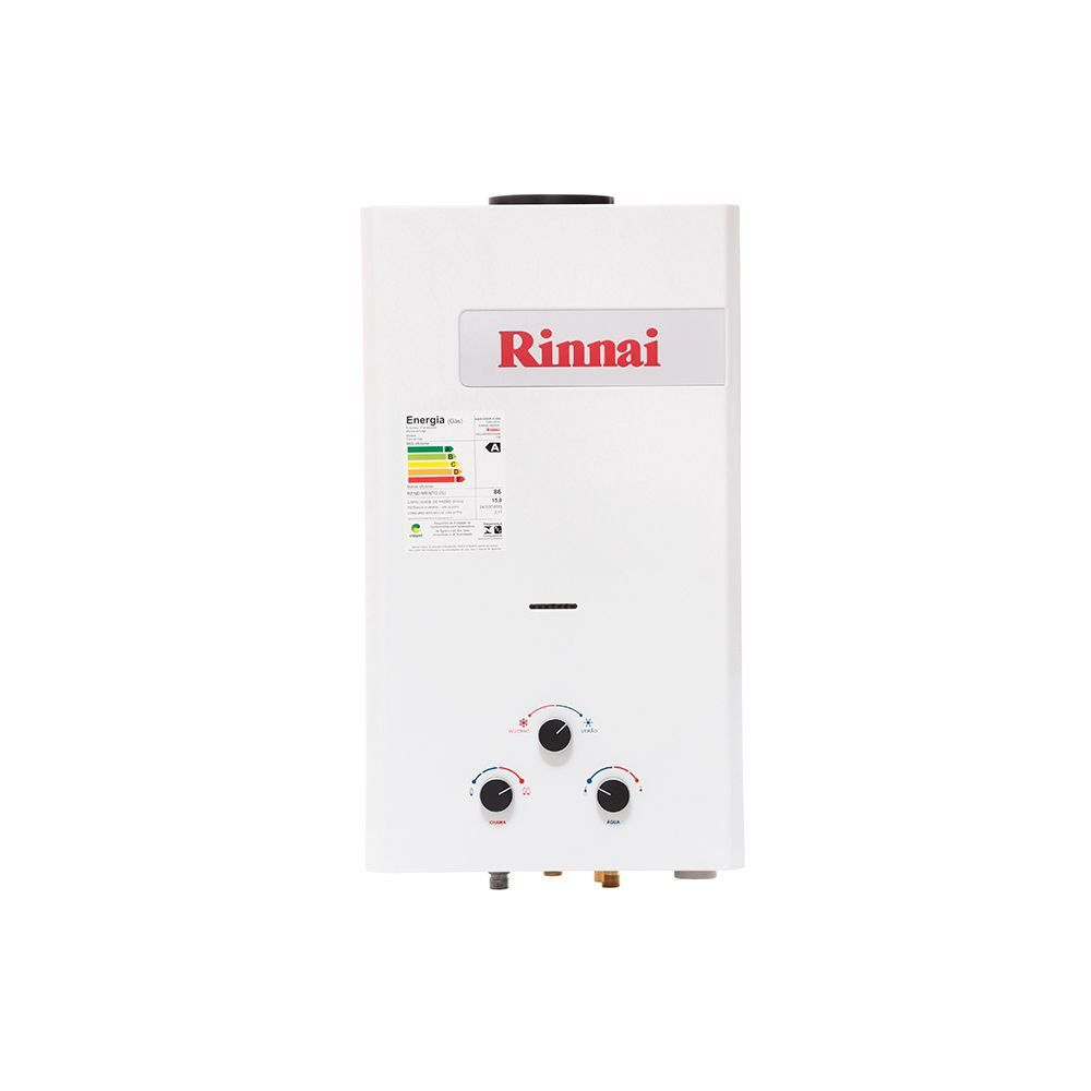 Aquecedor a Gás Mecânico Rinnai REU-M150 CFHB 15L GLP