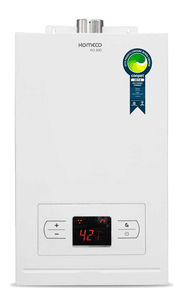 Aquecedor de água a gás Komeco Digital KO 20 D Branco